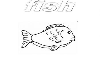 Dibujo Dibujo de un Pescado para pintar